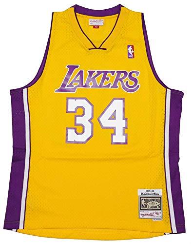 Mitchell & Ness Shaq O'Neal #34 Los Angeles Lakers 1999-00 Swingman NBA Trikot Gelb, L