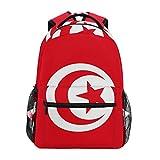 Sac à Dos Unisexe Motif Drapeau de la Tunisie