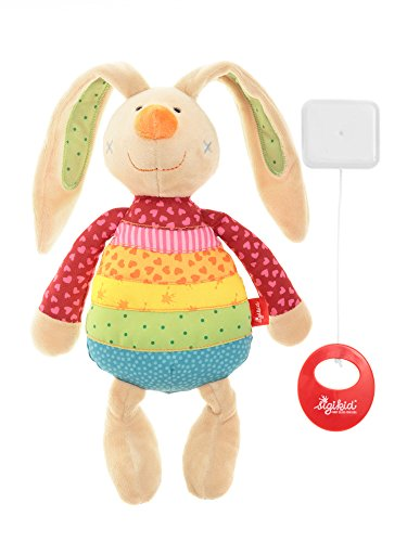 sigikid, Mädchen, Spieluhr, Stofftier Hase Rainbow Rabbit, Rot/Mehrfarbig, 40577 - 5