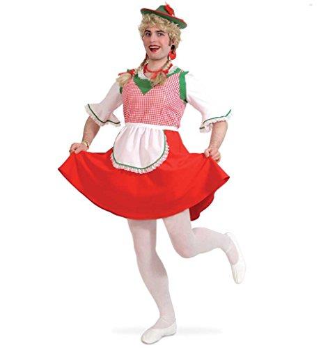 Herrenkostüm Dirndl JGA Kleid für Männer Bayern Oktoberfest Karneval Fasching Mottoparty Gr M - XXL (XL)