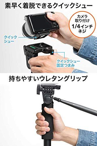 サンワダイレクトカメラ一脚雲台付4段伸縮60~180cmクイックシュー収納袋付き2WAY固定200-DGCAM016
