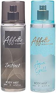 Affetto By Sunny Leone Instinct & Aqua Spell Body Mist - For Women 200ML Each (400ML, Pack of 2)