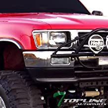 Topline Autopart Crystal Clear Signal Bumper Lights Lamps For 89-95 Toyota Hilux Pickup / 90-91 Toyota 4Runner