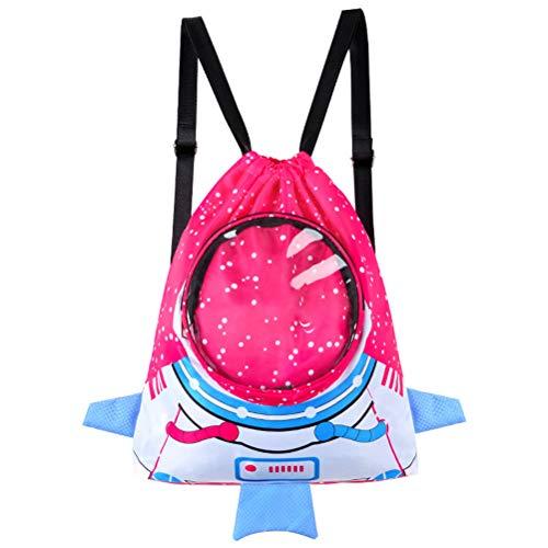 Qiekenao Kinder Wasserdichter Rucksack, Kinder Cartoon Sport Strandtasche Jungen und Mädchen Schwimmrucksack, SO08480656_RRD-1646-1757047391, rosarot, 37.5 * 34.5 * 17.5cm