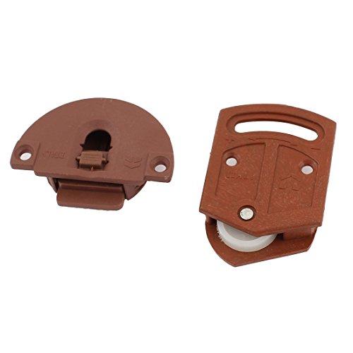 Sourcingmap Schiebetür-Rollen, 3,6 mm Durchmesser, Kunststoffplatte, Paket