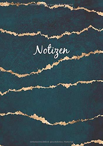 Notizbuch A5 Dotted: Dot Grid Notebook - Journal gepunktet | 110 Punktraster Seiten | Blanko Heft Für Bullet Journaling | Soft Cover Buch | Edel Grün Gold