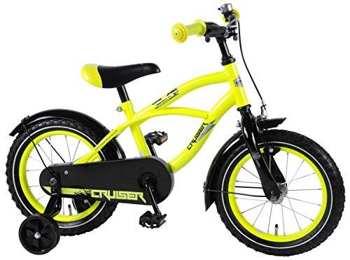 E & L 14 Zoll Fahrrad Gelb Kinderfahrrad Rücktrittbremse Stützräder