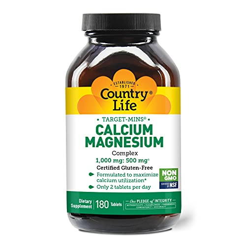 Calcium Magnesium Complex 1000mg and 500mg Country Life 180 Tabs