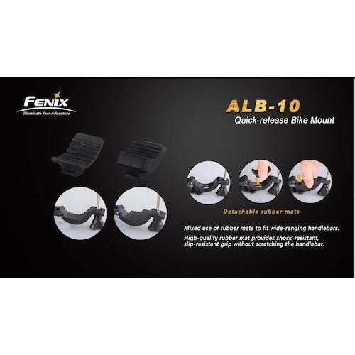 Fenix Sport Lampenhalterung Fahrrad-Halterung ALB-10 Black, STANDARD - 5