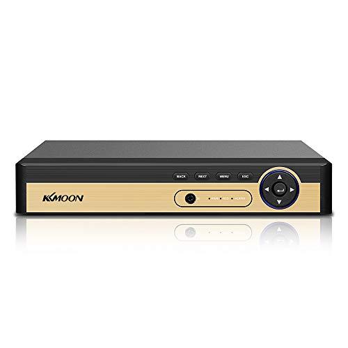 Entweg Fernüberwachung 4CH 1080P Hybrid-CCTV-Digitalvideorecorder mit Vollfestplatte DVR P2P-Kamera für die Fernüberwachung des Office-Überwachungssystems (Keine Festplatte)