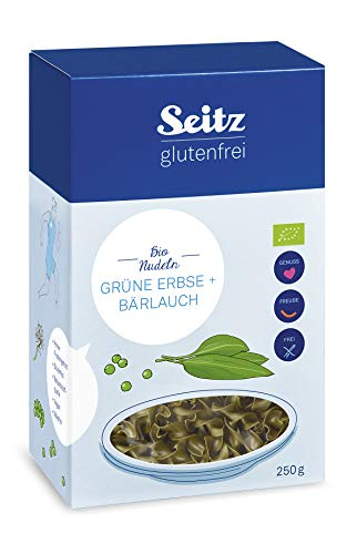 Seitz glutenfrei Bio Grüne Erbse + Bärlauch Nudeln, 250 g