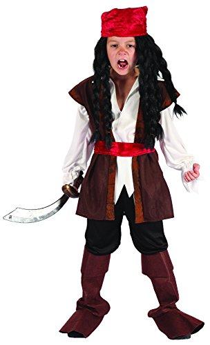 DEGUISE TOI - Déguisement Pirate garçon avec Bandana - S 4-6 Ans (110-120 cm)
