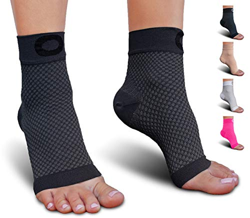 Plantar Fasciitis Sock with Arch Support for Men & Women - Best Ankle Compression Socks for Foot and Heel Pain Relief - Better Than Night Splint Brace, Orthotics, Inserts, Insoles (XXL, Gray)