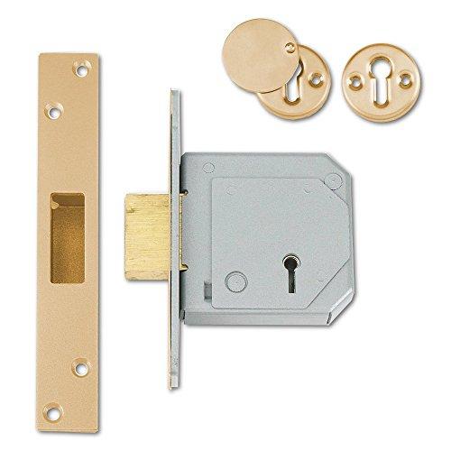 Union Locks 3G114E 5-Lever Mortice Deadlock C-Series 67mm Case - Brass
