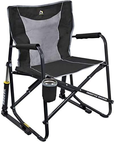 Outdoor Freestyle Rocker Mesh Chair Folding Portable Camping Cup Holder