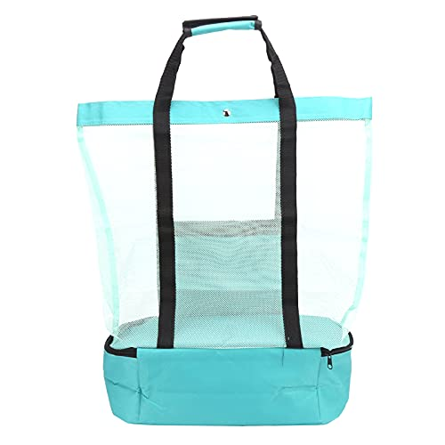 bizofft Bolsas y Bolsas de Playa Grandes, Bolsa de Almacenamiento de comestibles Multifuncional Plegable cómoda para Piscina para Acampar(Verde)