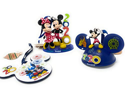 Disneyland Parks Mickey Mouse and Friends Icon Ceramic, Light-Up Ear Hat -Mickey & Friends, and Mickey & Minnie Mouse Ornaments