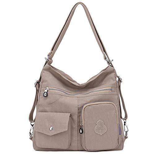 Outreo Borsetta Ragazza Borse a Spalla Griffate Borsa Tracolla Donna Zaino Impermeabile Borse da Viaggio Sacchetto Messenger Bag per Sport Tasche (Beige one)