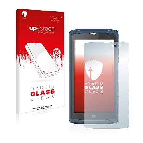 upscreen Hybrid Glass Panzerglas Schutzfolie kompatibel mit Crosscall Core X3 9H Panzerglas-Folie