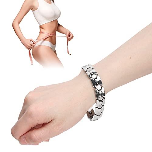Pulsera para aliviar el dolor, pulsera de terapia magnética para adelgazar ligero con material seguro para la salud de los hombres