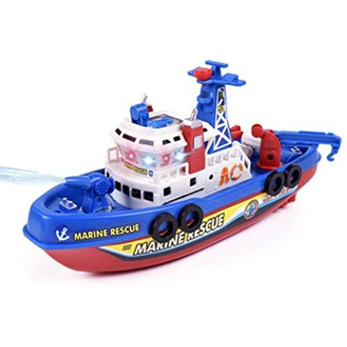 JVSISM Giocattolo per Barca per Bambini Antincendio Marino Elettrico Ad Alta velocità, Leggero e Leggero