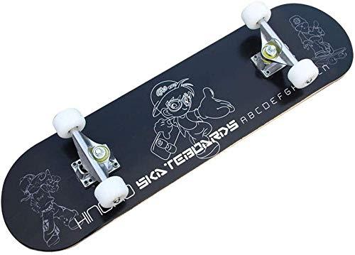 Skateboard 31 X 8 Standard Skateboard Professional Allrad 9-Lagen Maple Double Rocker Komplettes Skateboard Männer und Frauen Jugend Kinder Straße Erwachsener Anfänger Komplettes Skateboard Real-C