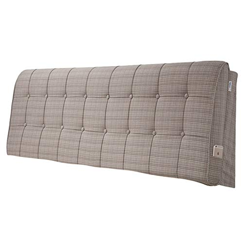ZDAB Fashion Linen Weave Upholstered Headboard,for Different Sizes Match Beds In Twin, Full, Queen,king Sizes,California King 4 Colors (Color : Weave Light Brown, Size : 180 * 60 cm)