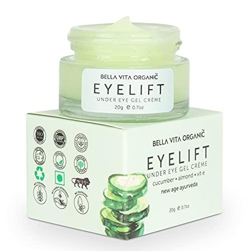 Bella Vita Organic EyeLift Under Eye Cream Gel for Dark Circles, Puffy Eyes, Wrinkles & Removal Of Fine Lines for Women & Men, 20gms