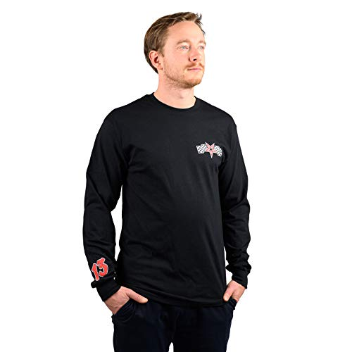 Thrasher Racing Black Longsleeve T-Shirt à Manches Longues Unisexe Adulte S Noir