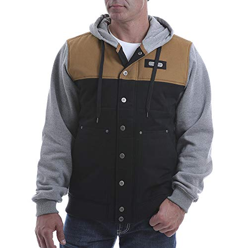 Cinch Men's Multi Color Blocked Twill Canvas Hooded Jacket Multi Large