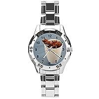 スターアニス 文学写真腕時計 メンズ ステンレス ビジネス ファッション 合金
