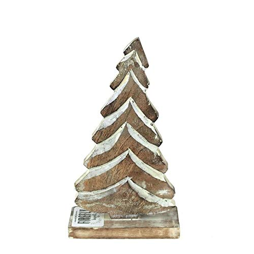 FireFly Barbecue Wooden Christmas Tree Tablet-top Ornament, Natural (6-1/2-Inch)