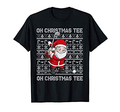 Golf Oh Christmas Tee Santa Claus Golfer Ugly Christmas Gift T-Shirt
