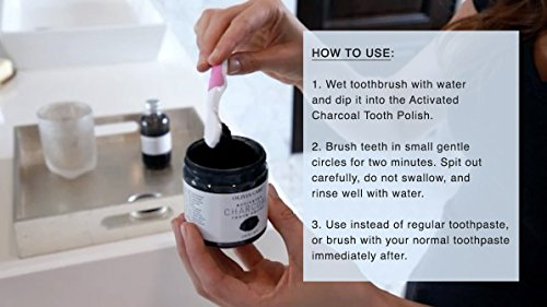Olivia Care Activated Charcoal Tooth Polish Powder