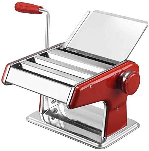GJJSZ Machine à Nouilles Manuelle à Deux Couteaux Petite Machine à pâtes Multifonction Manuelle pour la commodité Maison (Couleur:Rouge,Taille:Moyenne)