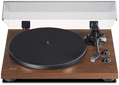 Teac TN-280BT-A3 Hifi Turntable with Bluetooth Transmitter for Speaker and Headphones (Die-Cast Aluminium Plate, Belt Drive, MM Phono Preamp, High-Density MDF Housing) Brown