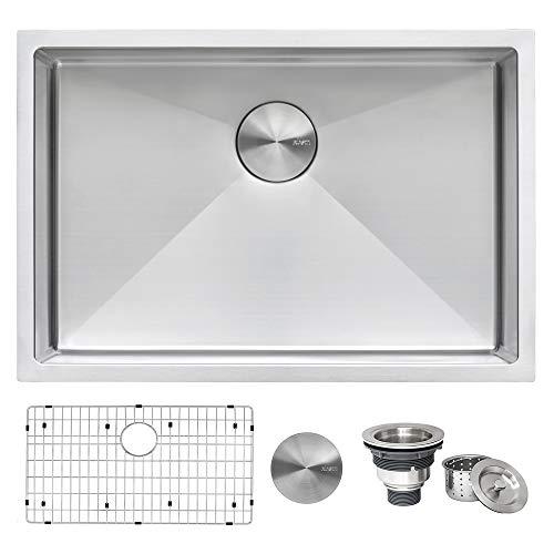 Ruvati 28-inch Undermount 16 Gauge Tight Radius Stainless Steel Kitchen Sink Single Bowl