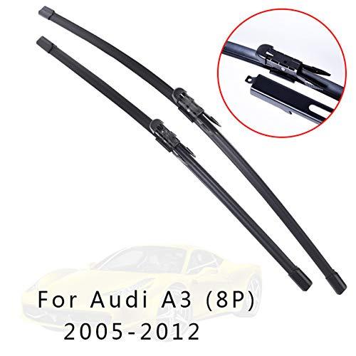 LILIGUAN Auto Wiper Set, Voor Audi A3 8L 8P 8V 1996 1997 1998 1999 2000 2001 tot 2017, Auto Zachte Rubber Voorruit Wipers