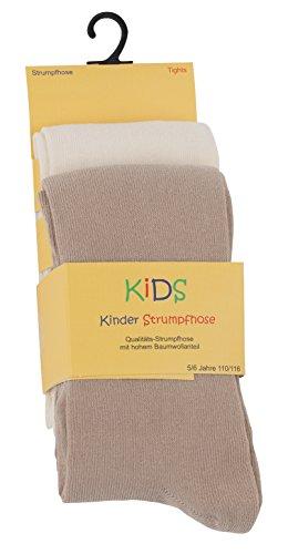 Cotton Prime 2er Set Kinder Strumpfhosen, Baumwolle, Mädchen und Jungen Strumpfhose (Öko-Tex Standard 100 Zertifiziert) Gr. 122/128