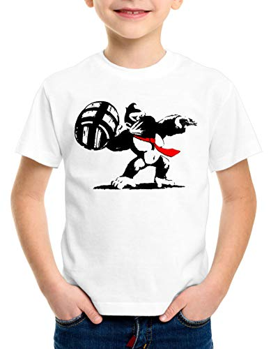 style3 Grafiti Kong Camiseta para Niños T-Shirt Donkey Pop Art Banksy Geek...