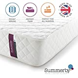 Summerby Sleep' No3. Pocket Spring and <span class='highlight'>Memory</span> <span class='highlight'>Foam</span> Hybrid Mattress | Single: 90cm x 190cm