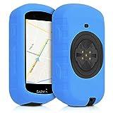 kwmobile Hülle kompatibel mit Garmin Edge 530 - Silikon GPS Fahrrad Hülle Schutzhülle - in Blau