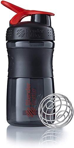 BlenderBottle Sportmixer Tritan- Protéine Shaker / Bouteille d'eau / Shaker Diététique Black/Rouge (1 x 590 ml)