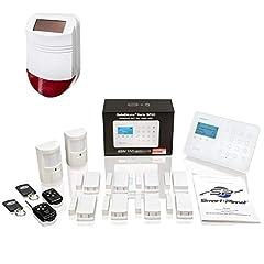 Safe2Home® Radio Alarm Systems Set SP110 Sabotage Protection Solar Siren - tyskspråkiga GSM Larmsystem SMS Alarmerande - Larmsystem för huset kontoret inkl.