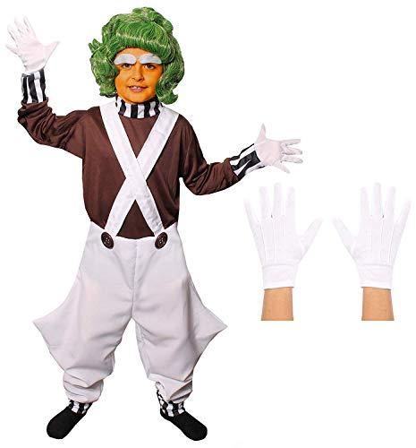 Ilovefancydress - Disfraz de trabajador de fábrica de chocolate para niño
