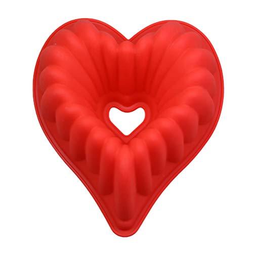 Molde de silicona con forma de corazón y hueco, 3D, para decoración de tartas, resistente a altas temperaturas