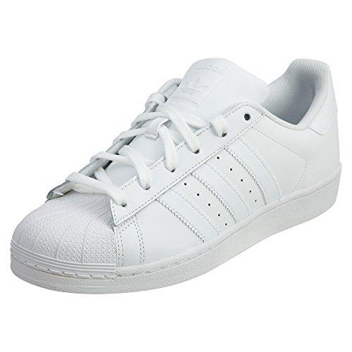 adidas Originals Men's Super Star Sneaker, White/White/White, 9.5