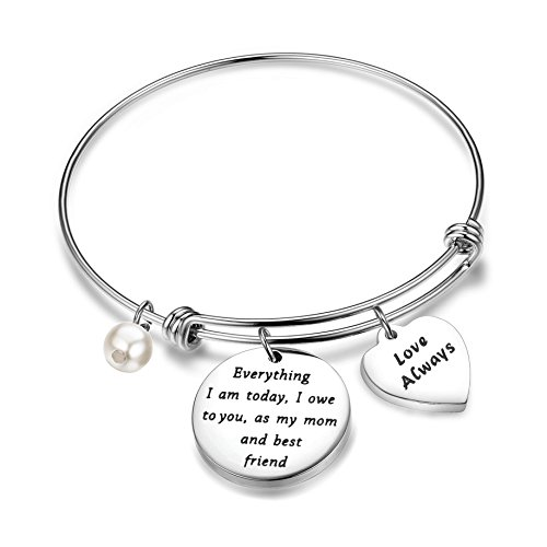 BNQL Mother of the Bride Mother of the Groom Bracelet Everything I am Today I Owe to You Bracelet (Owe To You Bracelet)