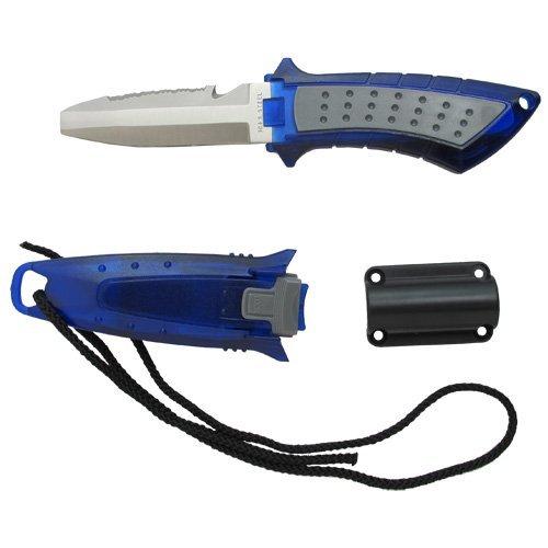 Scuba Choice Cuchillo de Buceo de bajo Volumen Acero Inoxidable Punta Roma BCD, Azul