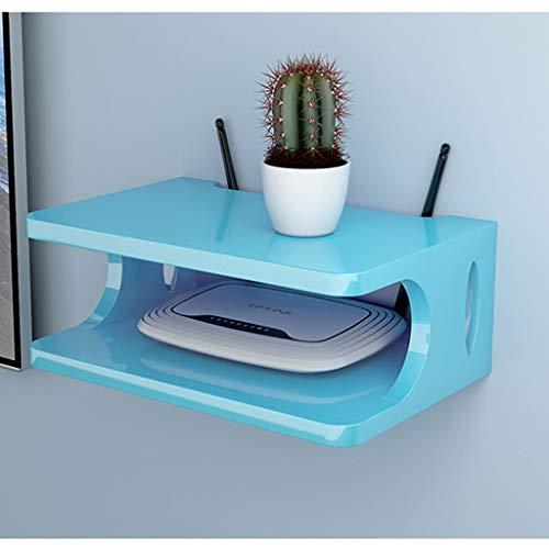 WiFi Router Shelf Flotante montado en la Pared del Estante for TV Gabinete Abrir formulario Locker Set-Top Box Plataforma Router Caja de Almacenamiento for Reproductores de DVD/Cajas de Cable/Cons